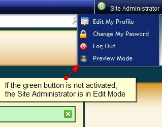 Exponent CMS Administrative Edit Mode
