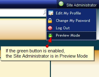 Exponent CMS Administrative Preview Mode